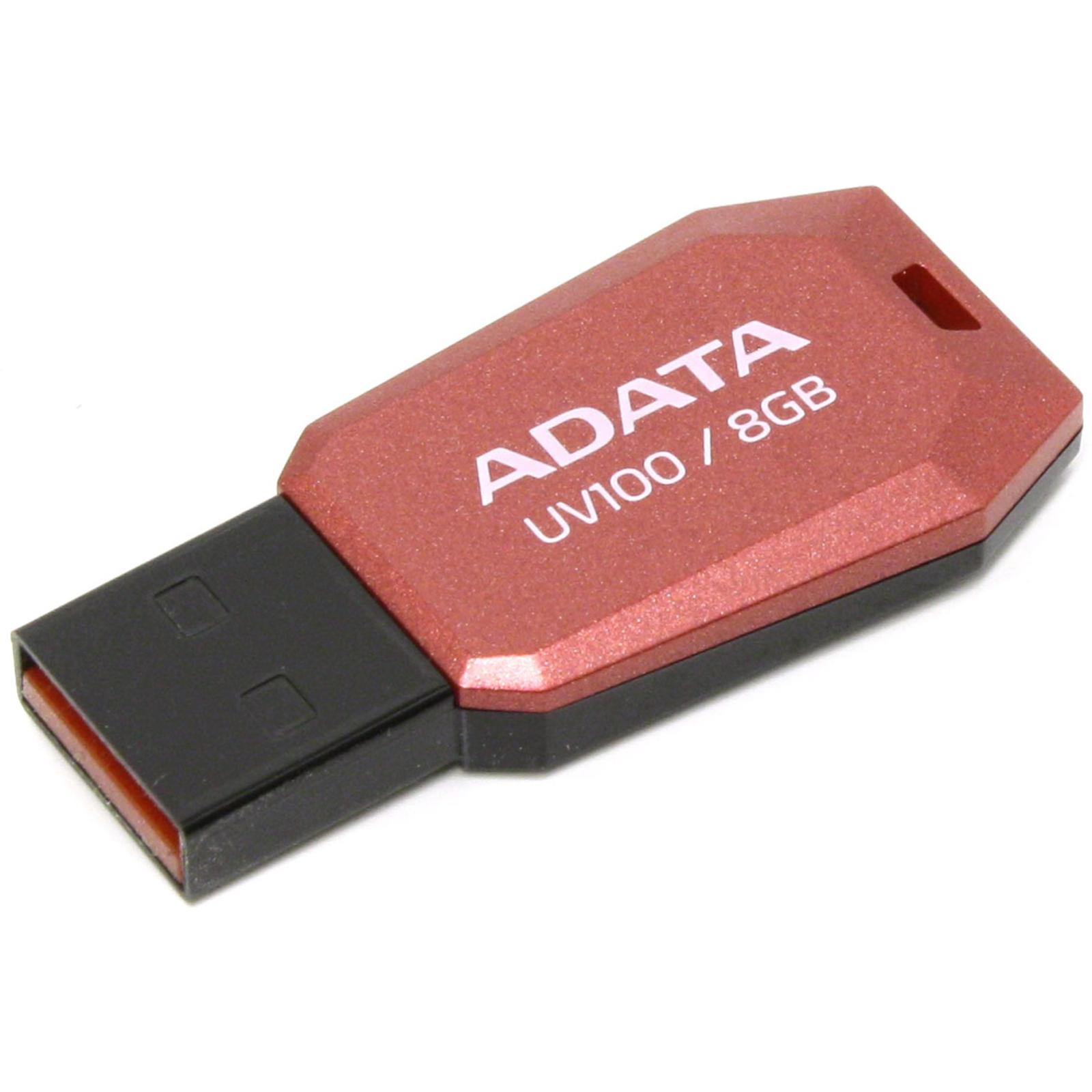 USB флеш накопитель ADATA 32GB DashDrive UV100 Red USB 2.0 (AUV100-32G-RRD) изображение 2