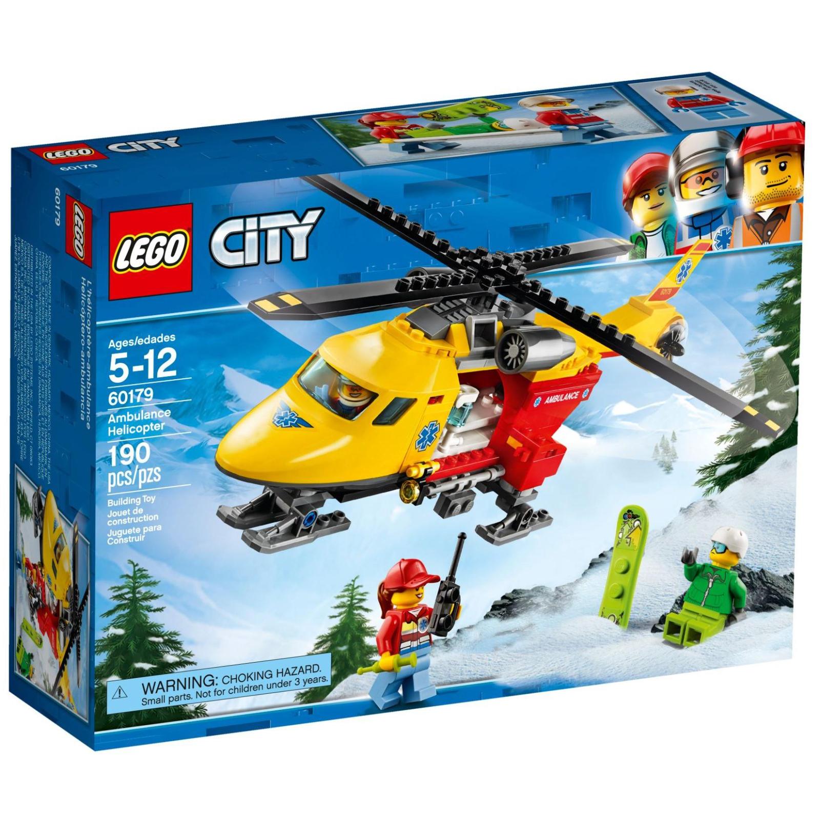 Конструктор LEGO City Вертолет скорой помощи (60179)