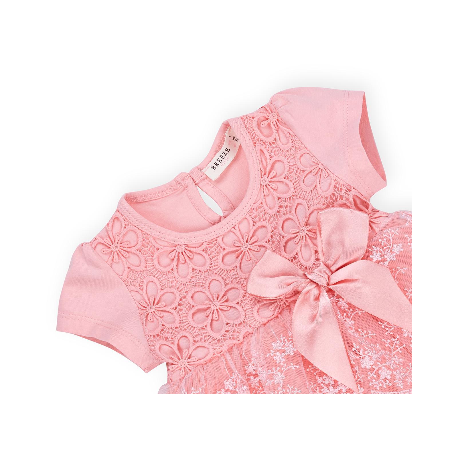 Платье Breeze кружевное с оборками (9011-80G-peach) изображение 3