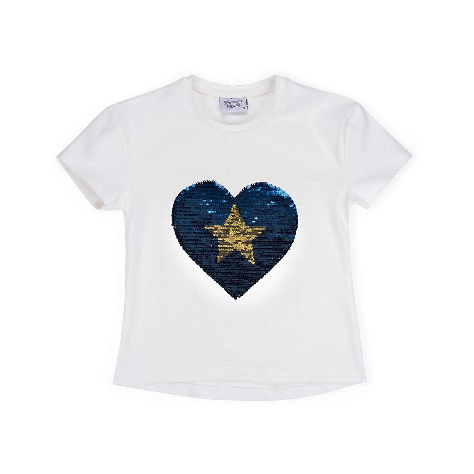 Футболка детская Breeze с сердцем перевертышем (9287-110G-blue)