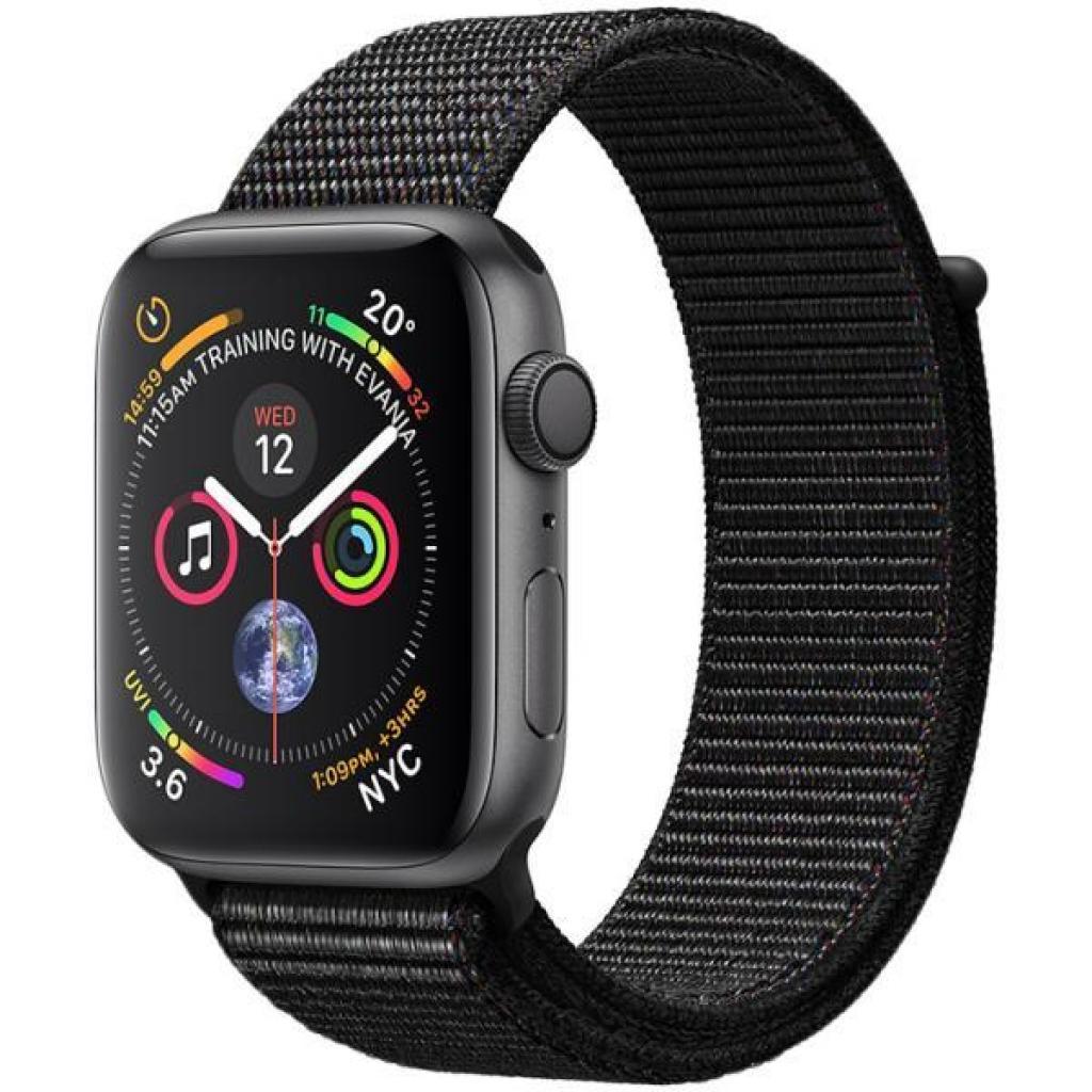 Смарт-часы Apple Watch Series 4 GPS, 44mm Space Grey Aluminium Case with Blac (MU6E2GK/A)