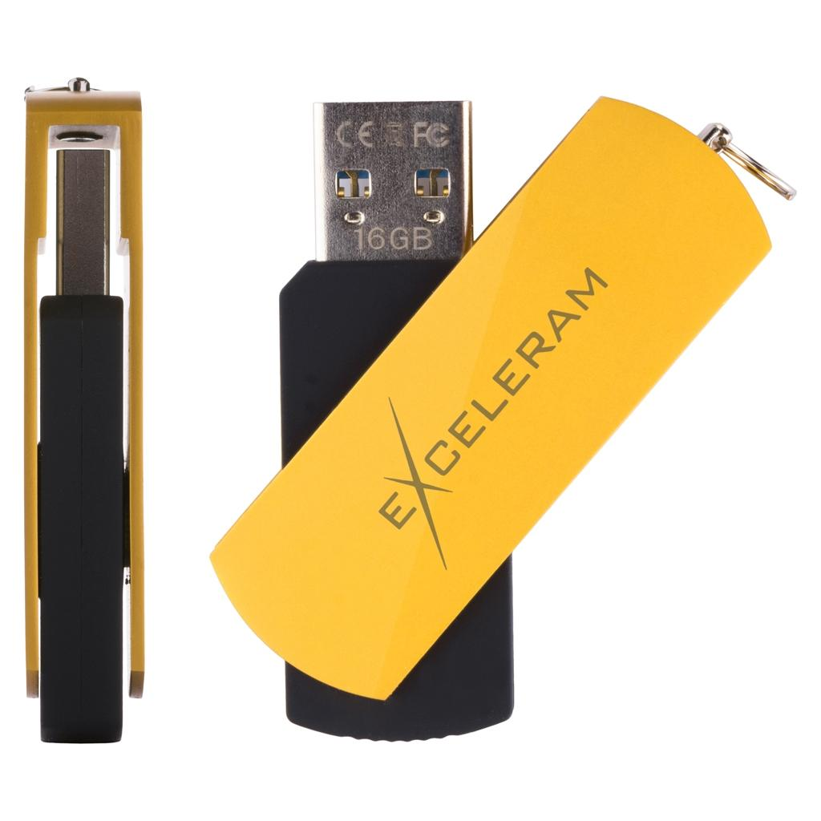 USB флеш накопитель eXceleram 16GB P2 Series Black/Black USB 3.1 Gen 1 (EXP2U3BB16) изображение 4