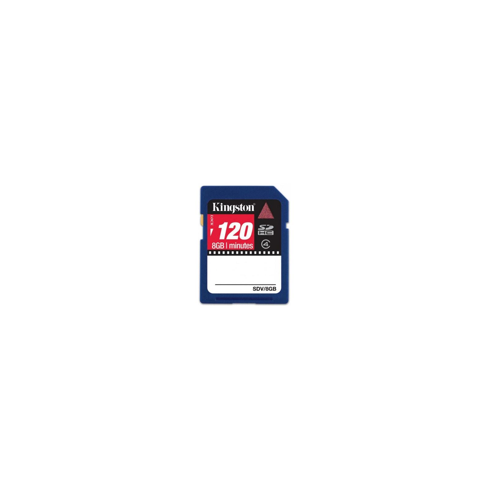 Карта памяти Kingston 8Gb SDHC class 4 Video (SDV/8GB)