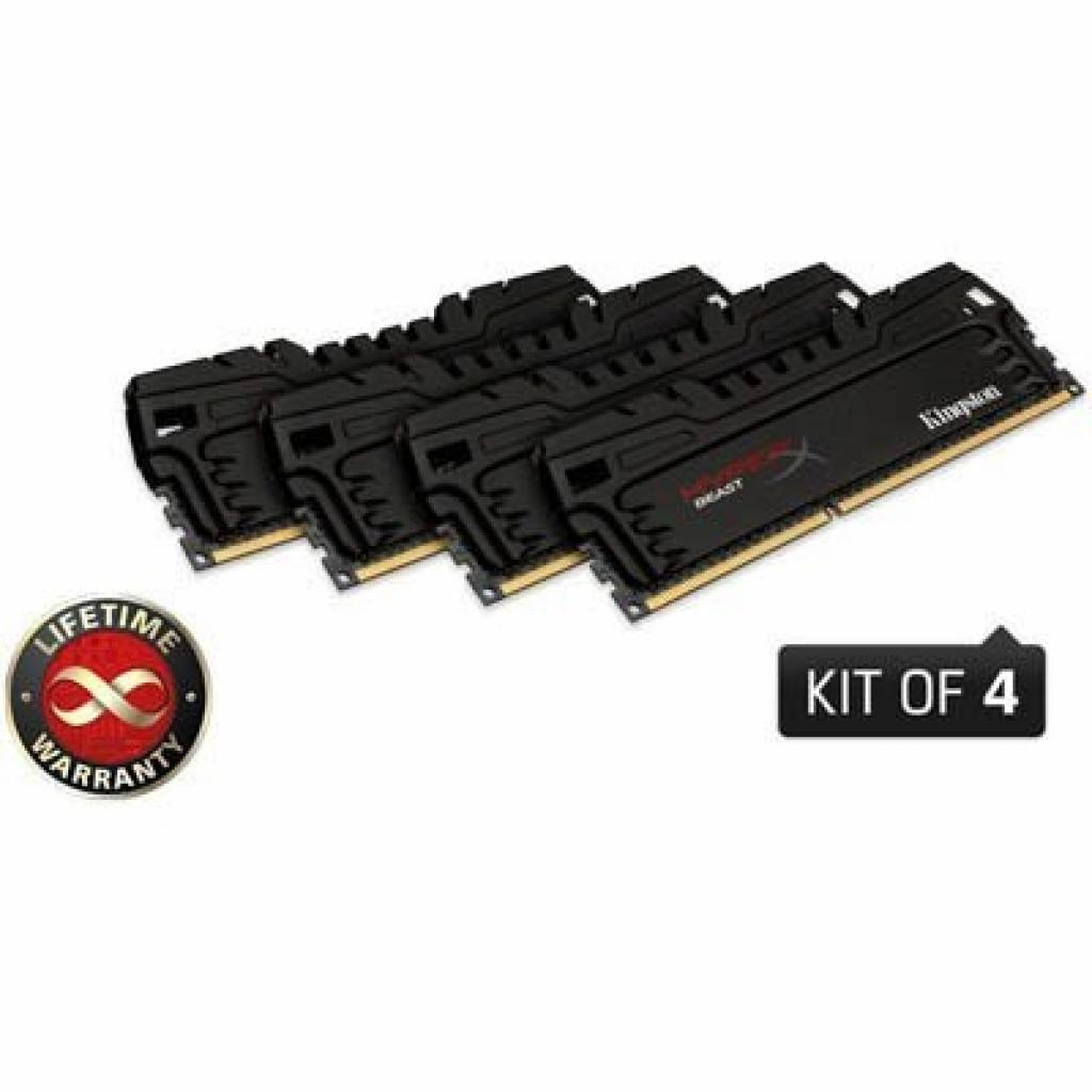 Модуль памяти для компьютера DDR3 16GB (4x4GB) 2400 MHz Kingston (KHX24C11T3K4/16X)