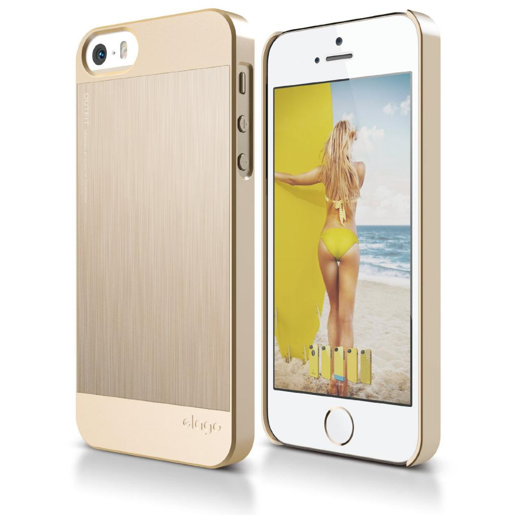 Чехол для моб. телефона ELAGO для iPhone 5C /Outfit MATRIX Aluminum/Gold (ES5COFMX-GDGD-RT)