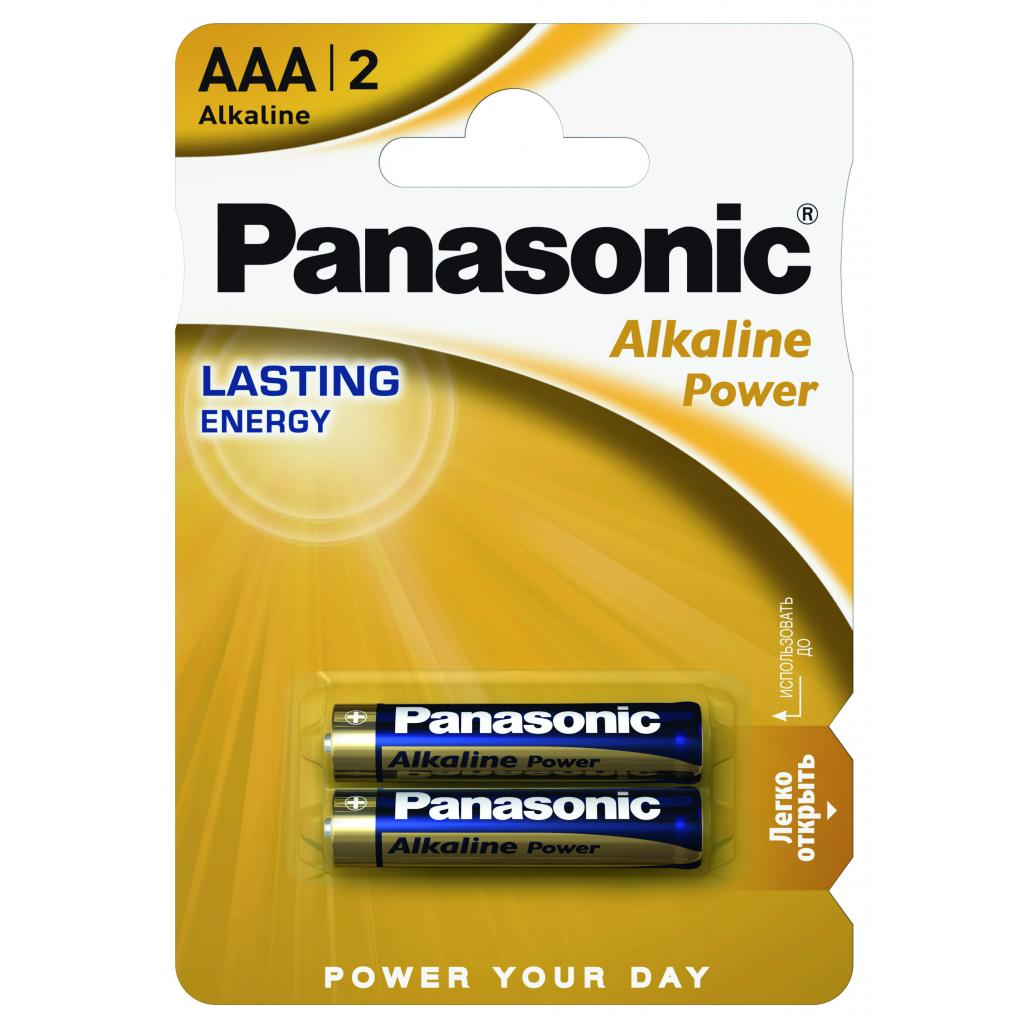 Батарейка PANASONIC AAA LR03 Alkaline Power * 2 (LR03REB/2BP)