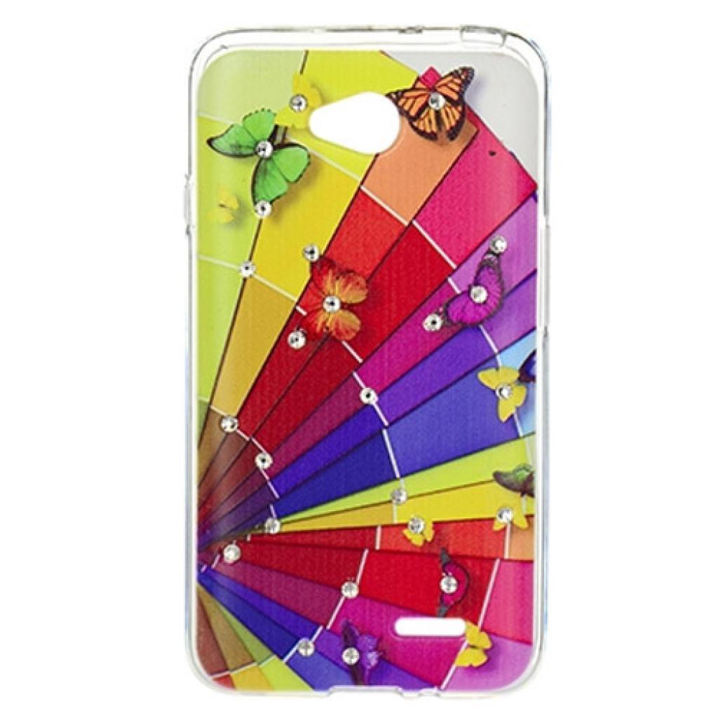 Чехол для моб. телефона для LG L70 Dual (D325) (Rainbow) Cristall PU Drobak (211595)
