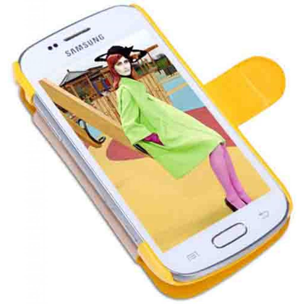 Чехол для моб. телефона NILLKIN для Samsung S7390 /Fresh/ Leather/Yellow (6130565) изображение 3