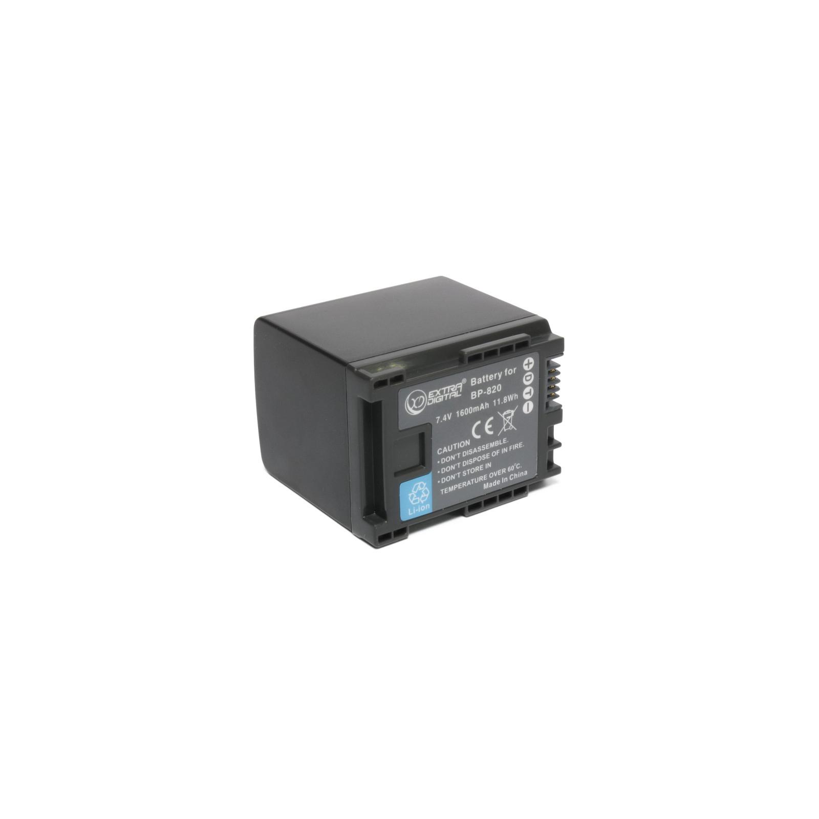 Аккумулятор к фото/видео EXTRADIGITAL Canon BP-820 (BDC1305)