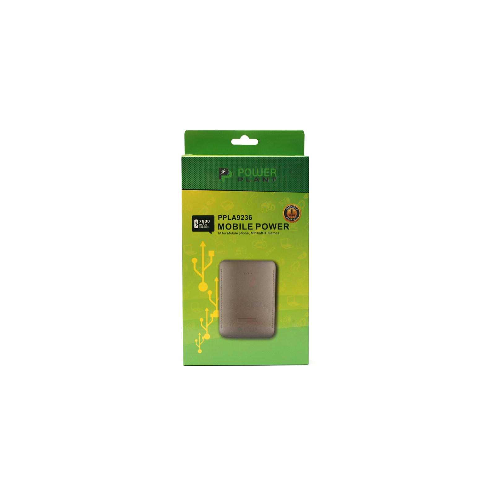 Батарея универсальная PowerPlant PB-LA9236 7800mAh 1*USB/1A 1*USB/2.1A (PPLA9236) изображение 4