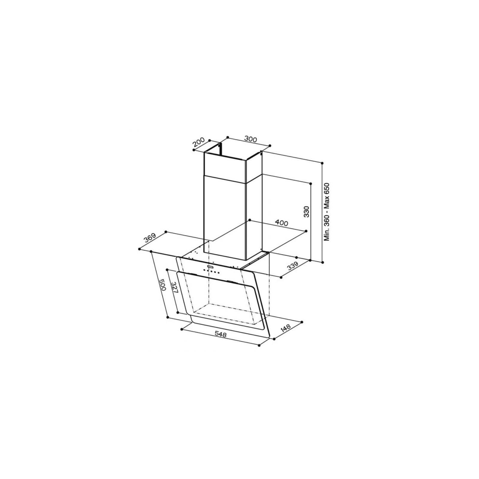 Вытяжка кухонная Faber COCKTAIL ALMOND F55 изображение 2