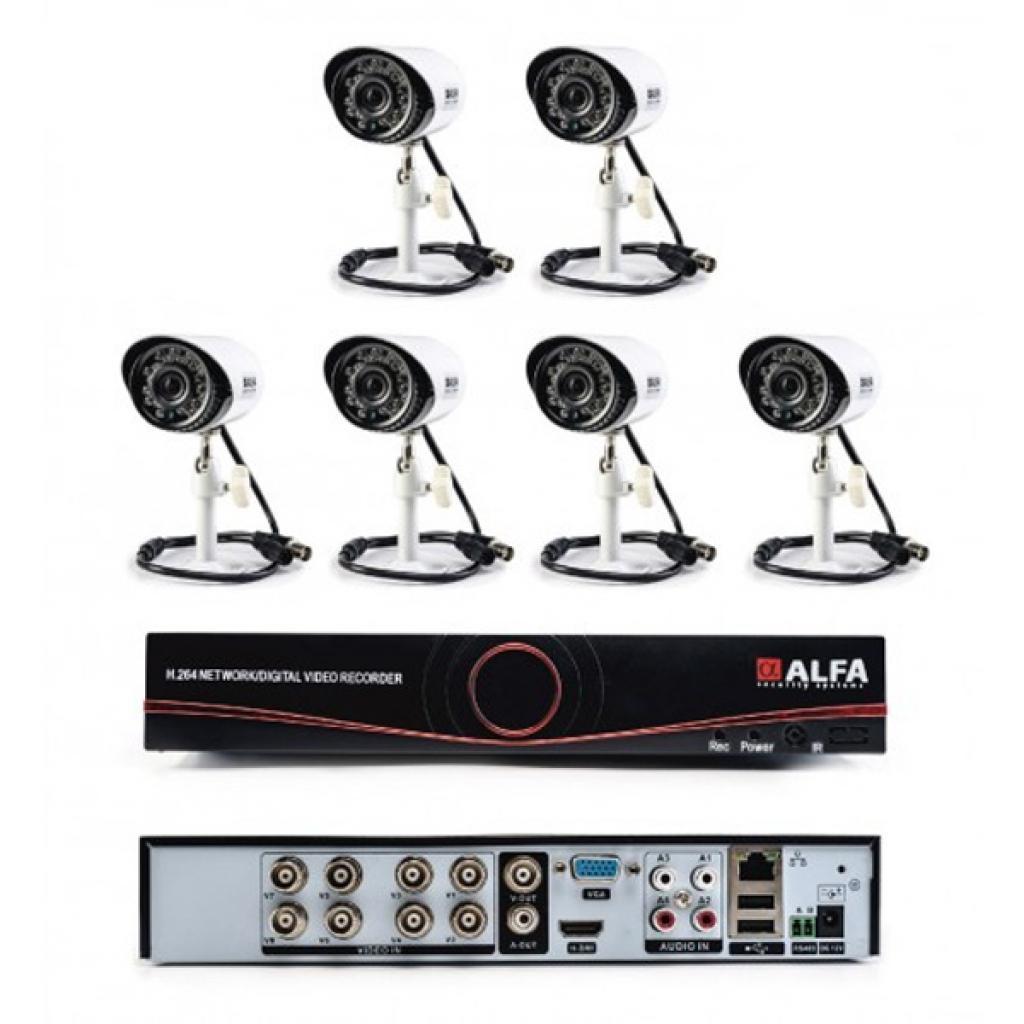 Комплект видеонаблюдения ALFA Outdoors 6