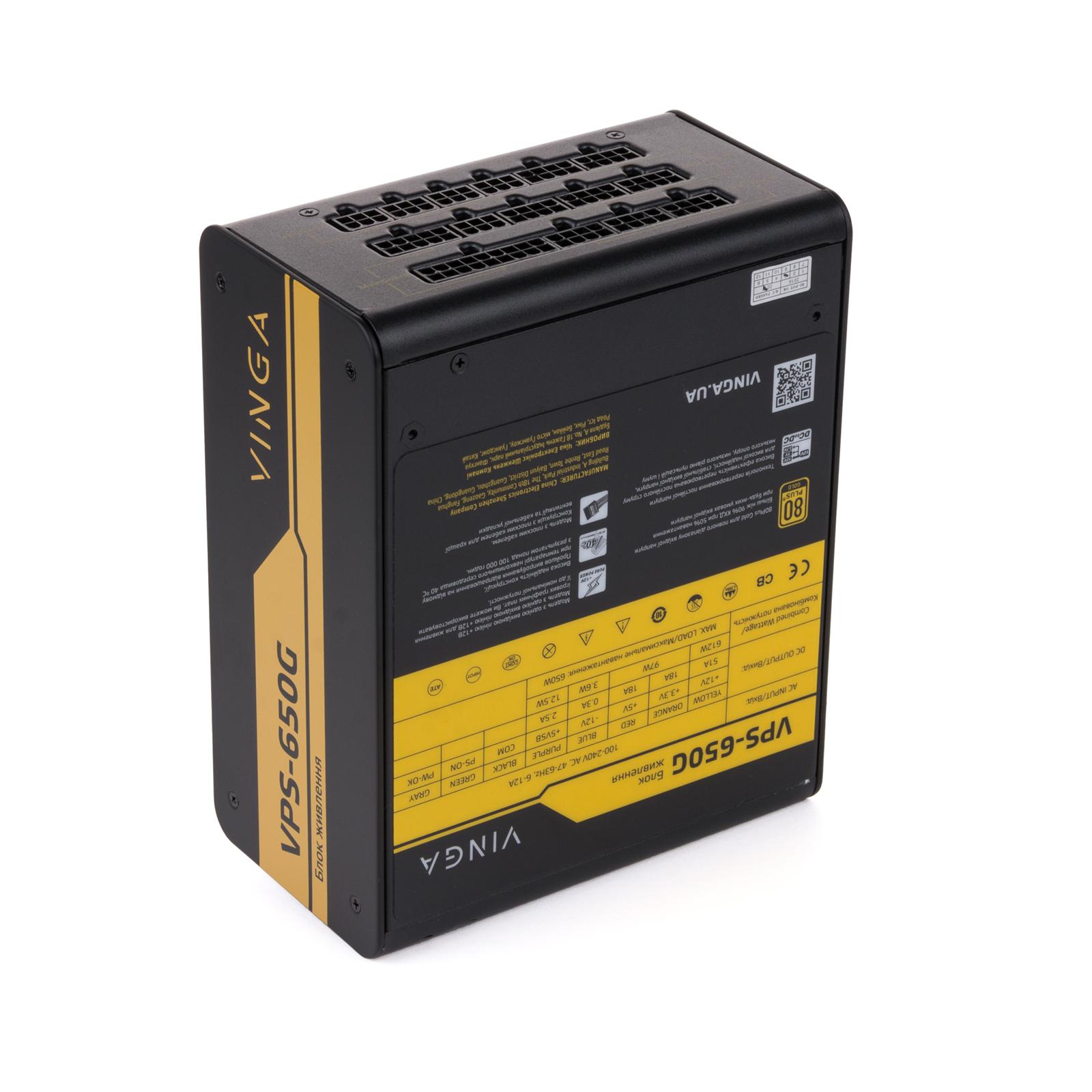 Блок живлення Vinga 650W (VPS-650G) зображення 6