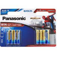 Батарейка PANASONIC AAA LR03 Evolta Alkaline Spider Man * 8 (LR03EGE/8B4FSM)