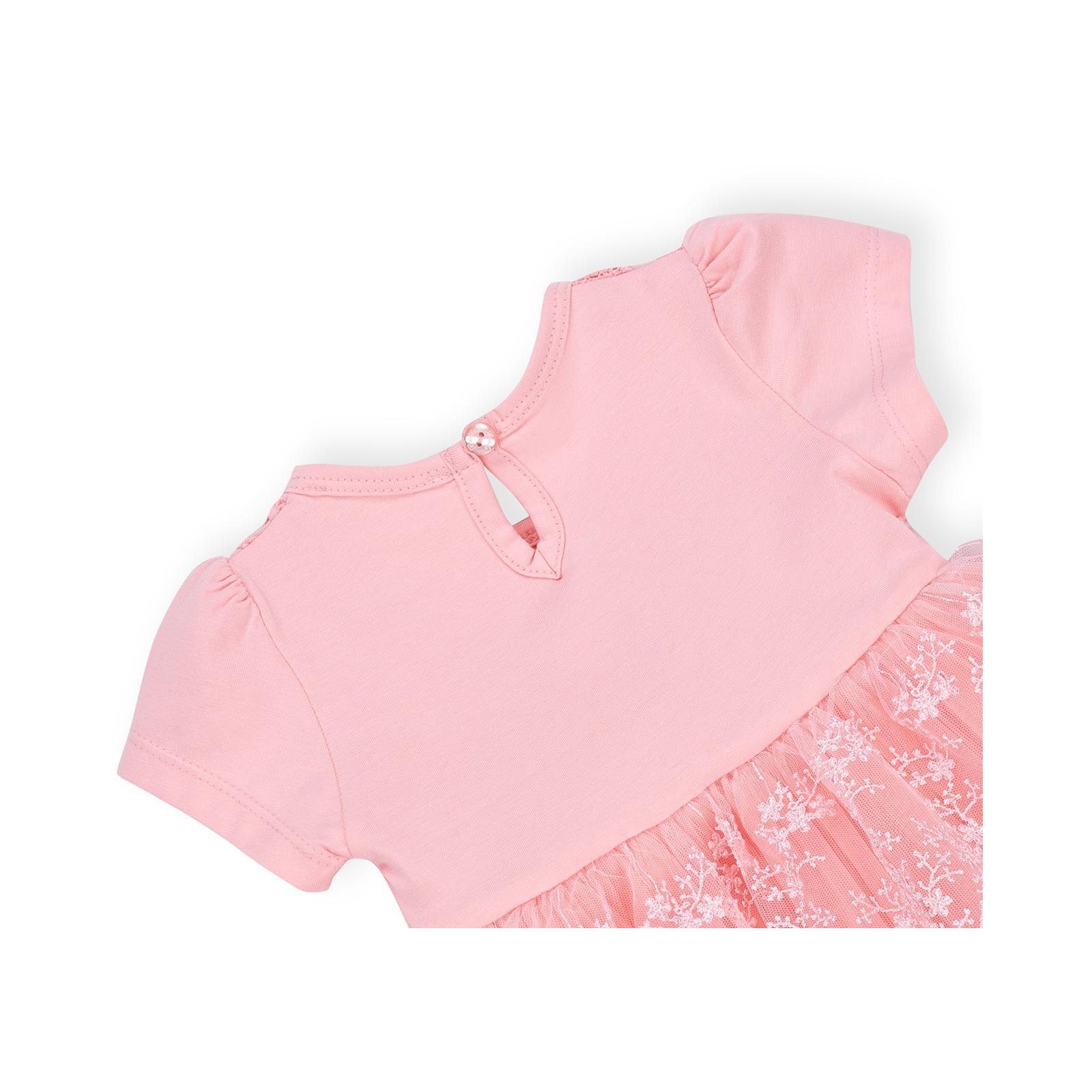 Платье Breeze кружевное с оборками (9011-80G-peach) изображение 4
