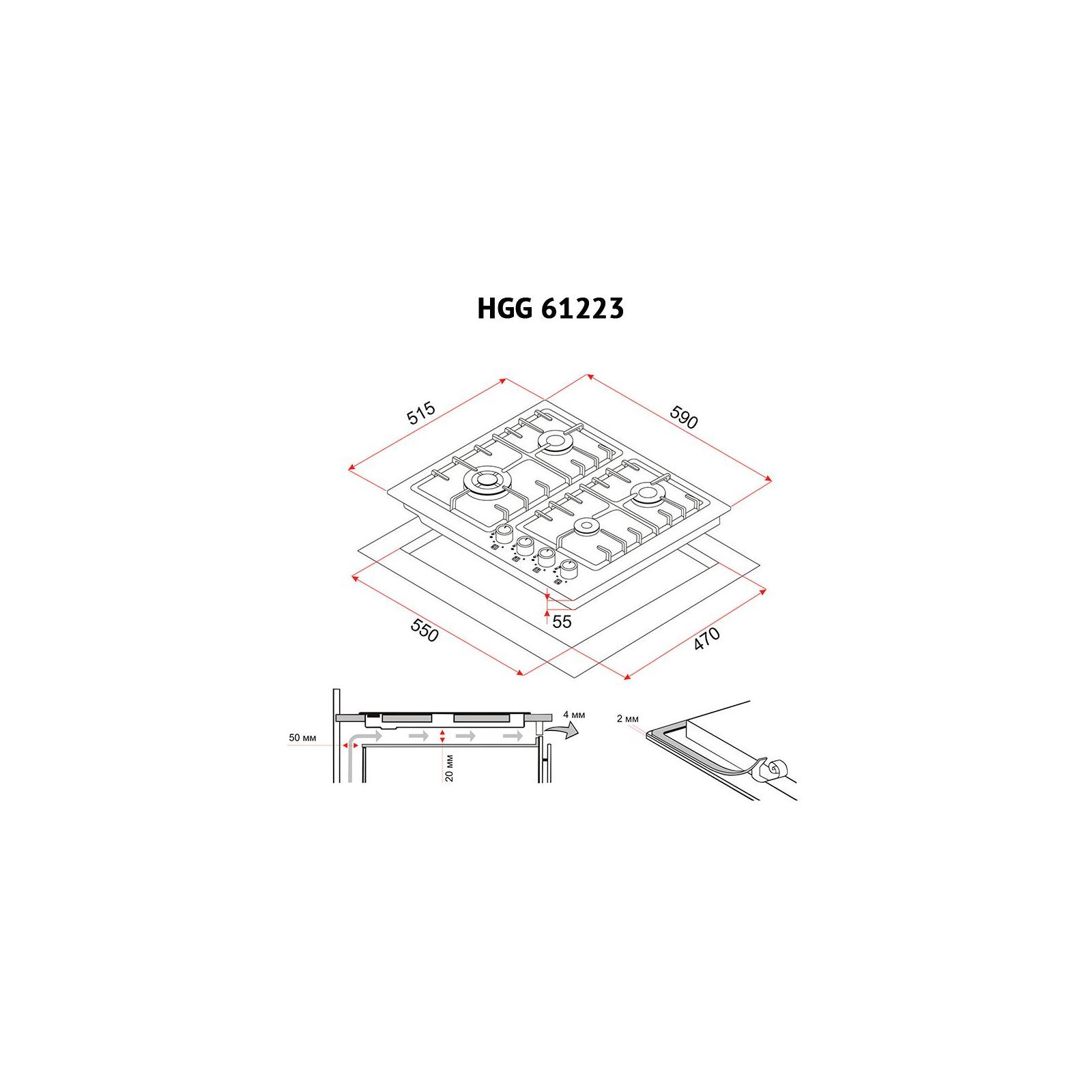 Варочная поверхность PERFELLI HGG 61223 BL изображение 7