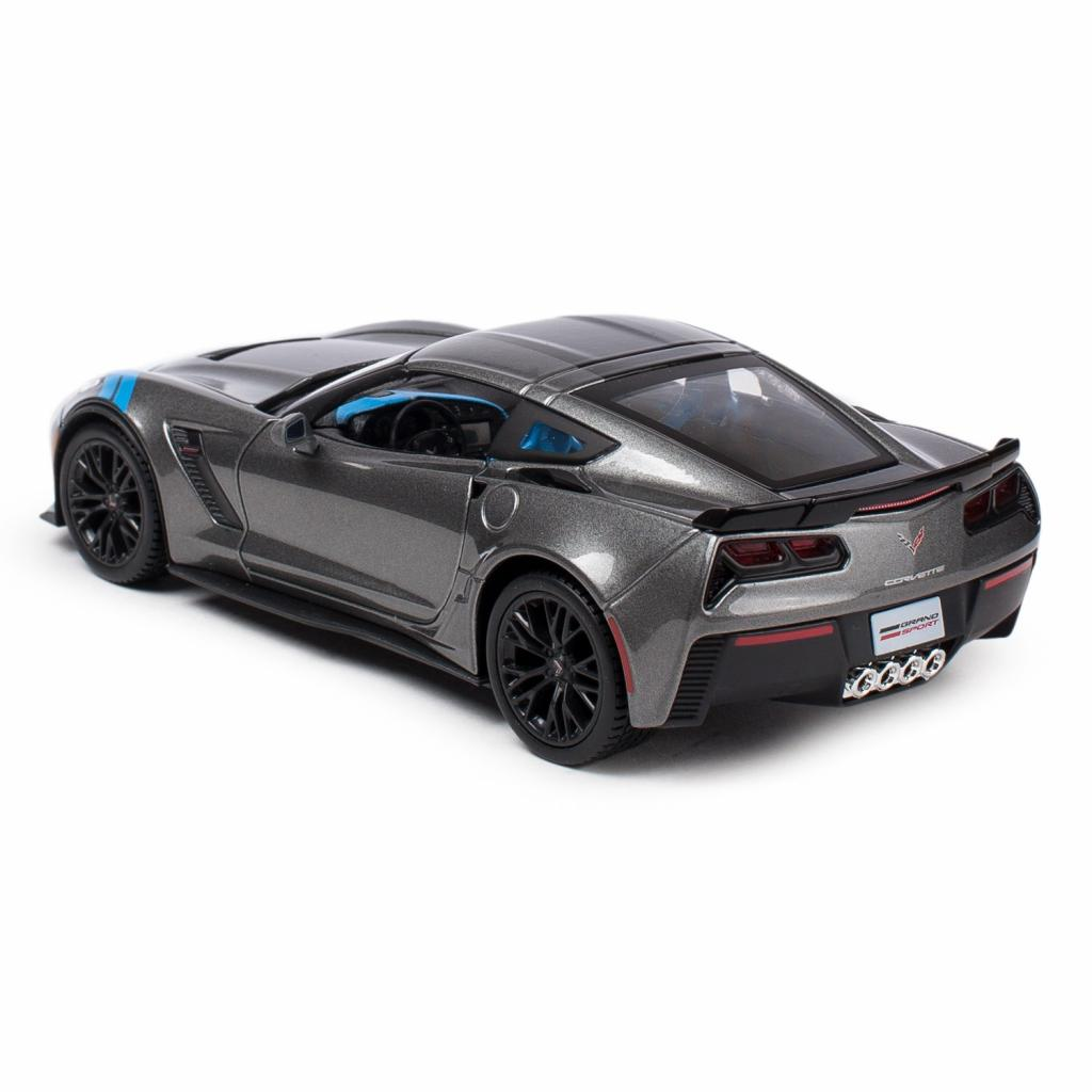 Машина Maisto Corvette Grand Sport 2017 (1:24) серый металлик (31516 met. grey) изображение 2
