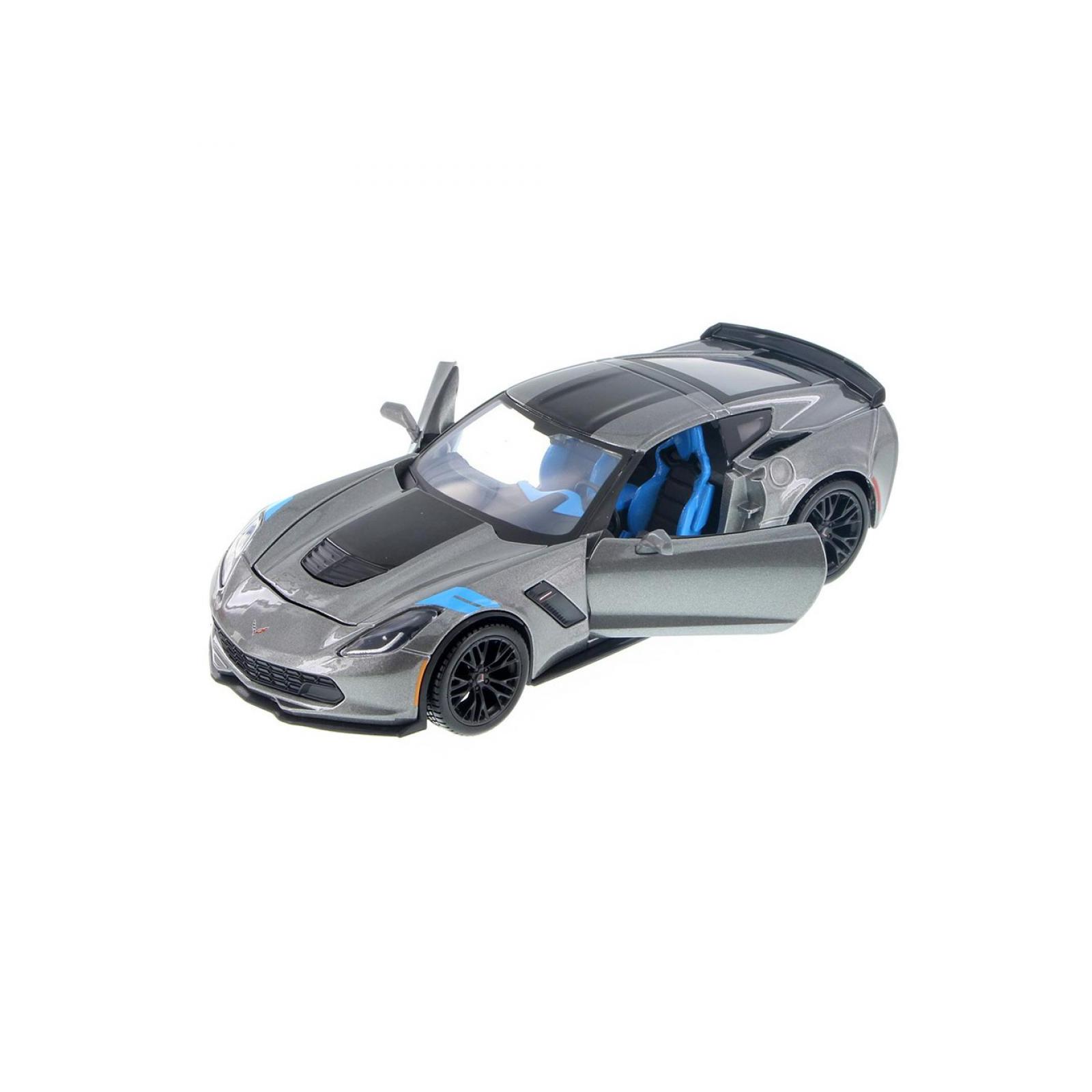 Машина Maisto Corvette Grand Sport 2017 (1:24) серый металлик (31516 met. grey) изображение 5