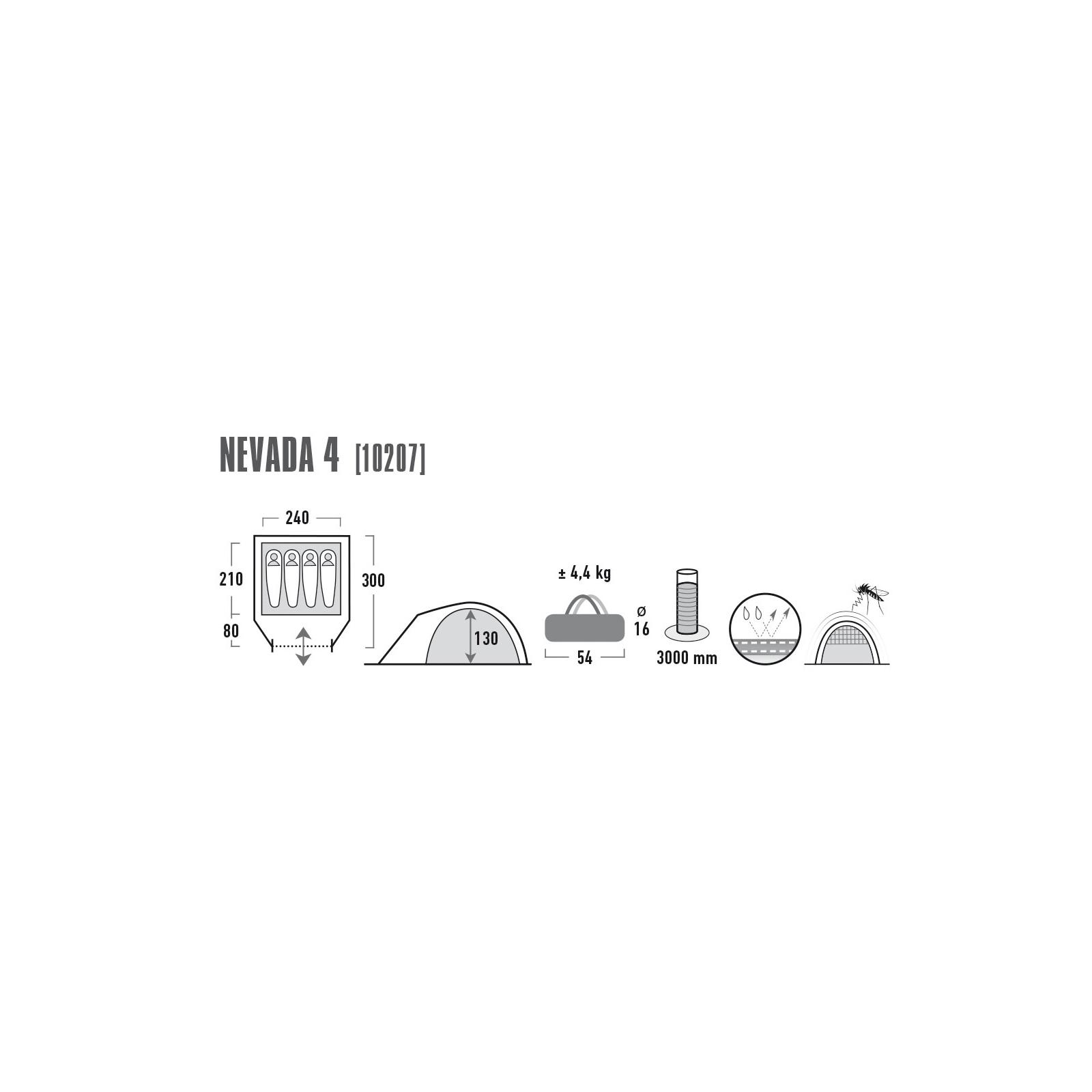 Палатка High Peak Nevada 4 Dark Grey/Red (926274) изображение 4