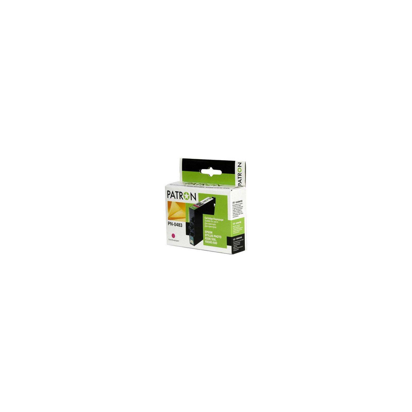 Картридж PATRON для EPSON R200/300 (PN-0483)MAGENTA (CI-EPS-T048340-M-PN)