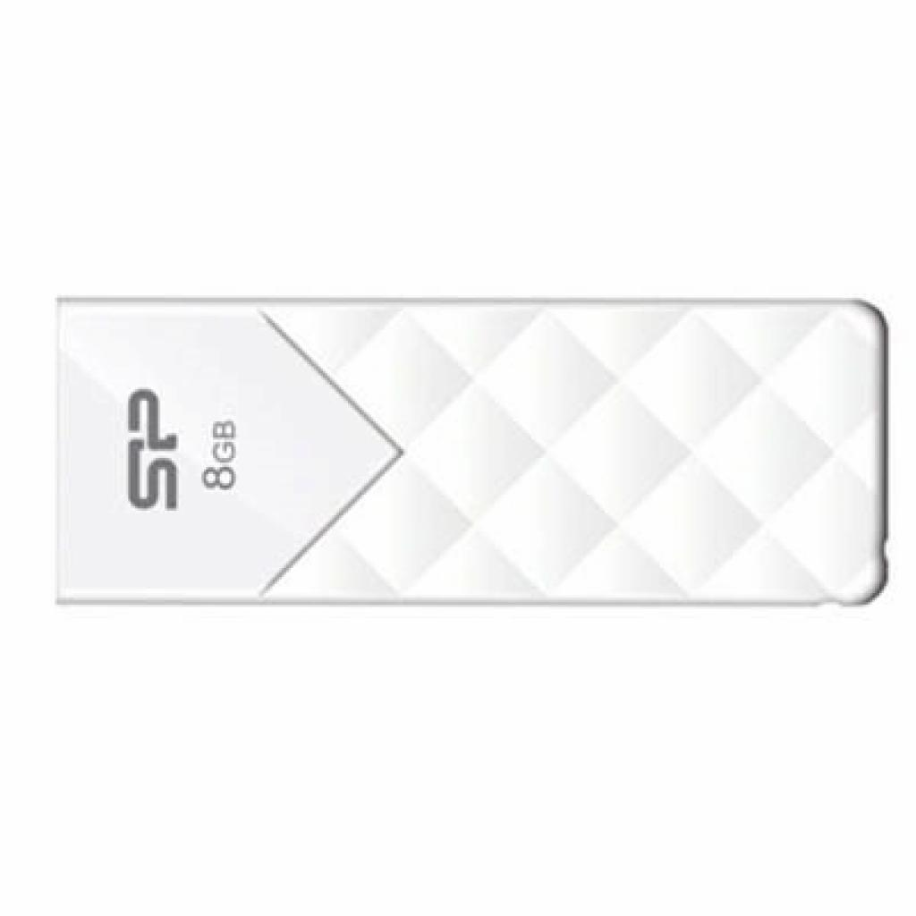 USB флеш накопитель Silicon Power 8Gb Ultima U03 White (SP008GBUF2U03V1W)