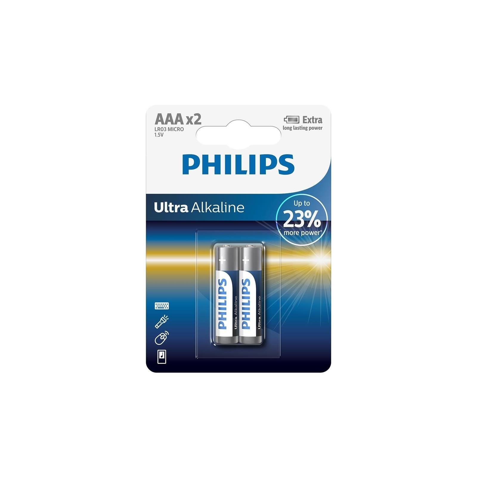 Батарейка PHILIPS LR03 PHILIPS Ultra Alkaline * 2 (LR03E2B/10)