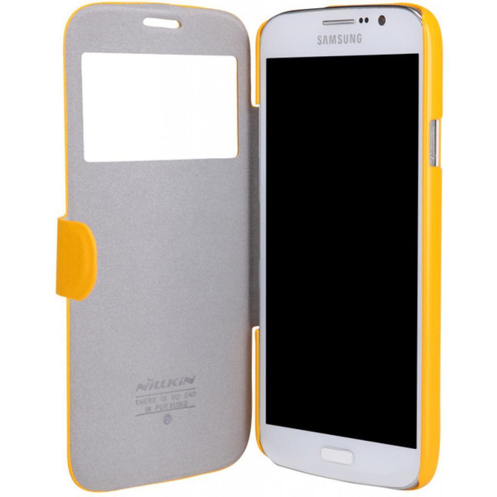 Чехол для моб. телефона NILLKIN для Samsung I9152 /Fresh/ Leather/Yellow (6076971) изображение 3