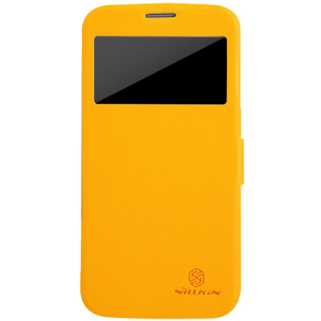 Чехол для моб. телефона NILLKIN для Samsung I9152 /Fresh/ Leather/Yellow (6076971)