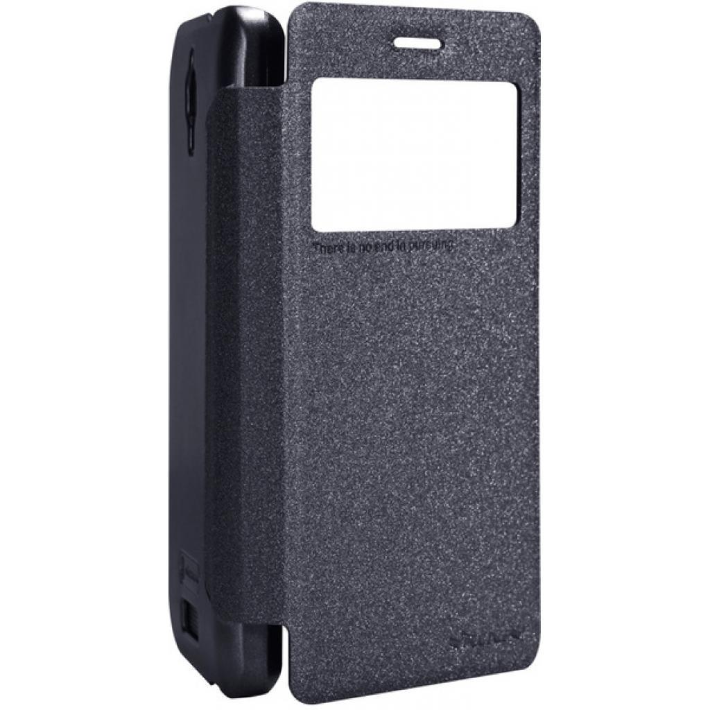 Чехол для моб. телефона NILLKIN для Lenovo S660 /Spark/ Leather/Black (6164334) изображение 2