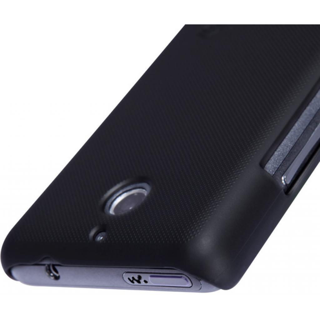 Чехол для моб. телефона NILLKIN для Sony Xperia E1 /Super Frosted Shield/Black (6147166) изображение 4