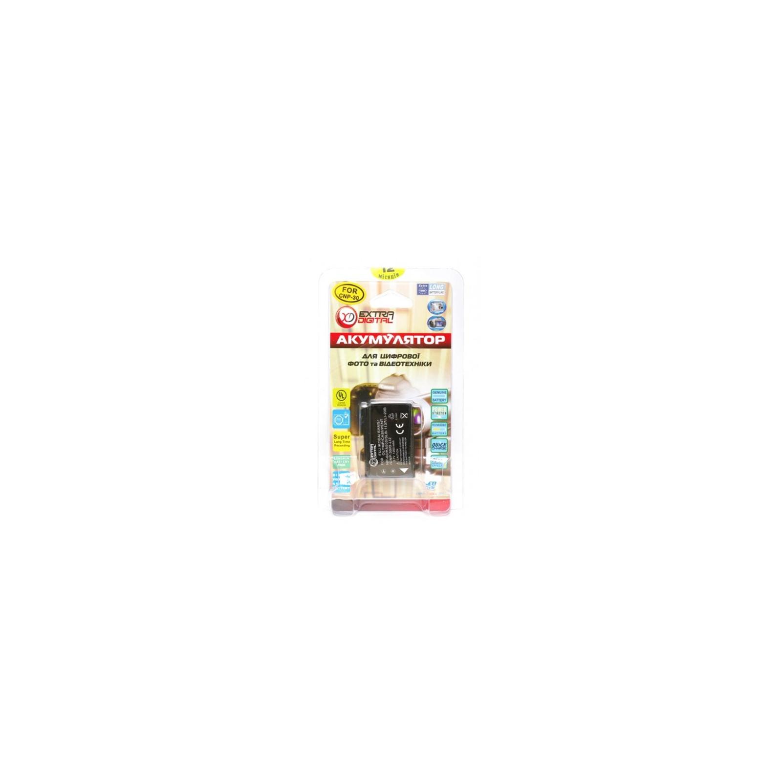 Аккумулятор к фото/видео EXTRADIGITAL Casio NP-30, KLIC-5000, LI-20B, D-L12, NP-60 (DV00DV1043) изображение 3