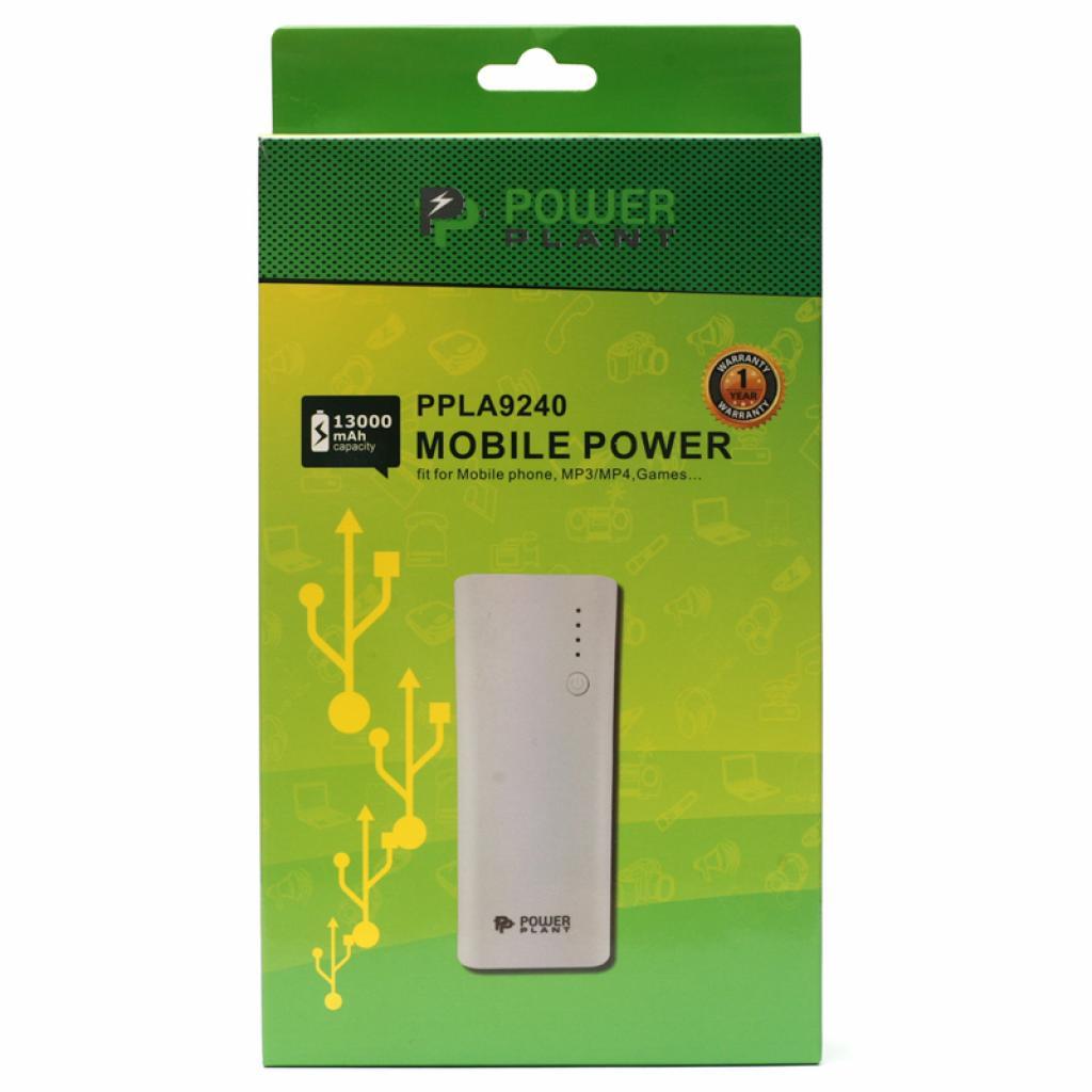 Батарея универсальная PowerPlant PB-LA9240 13000mAh 1*USB/1A 1*USB/2,1A (PPLA9240) изображение 4
