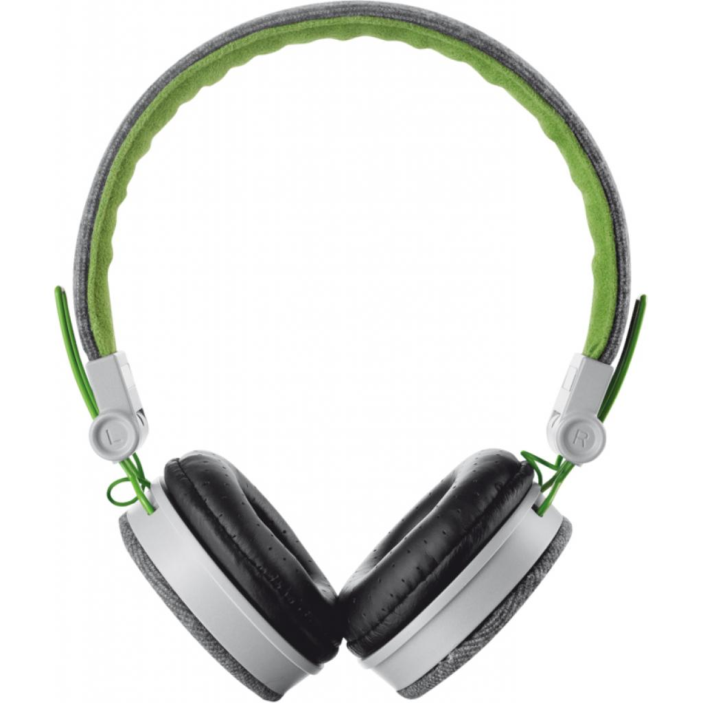 Наушники Trust Urban Revolt Fyber headphone grey/green (20080) изображение 2