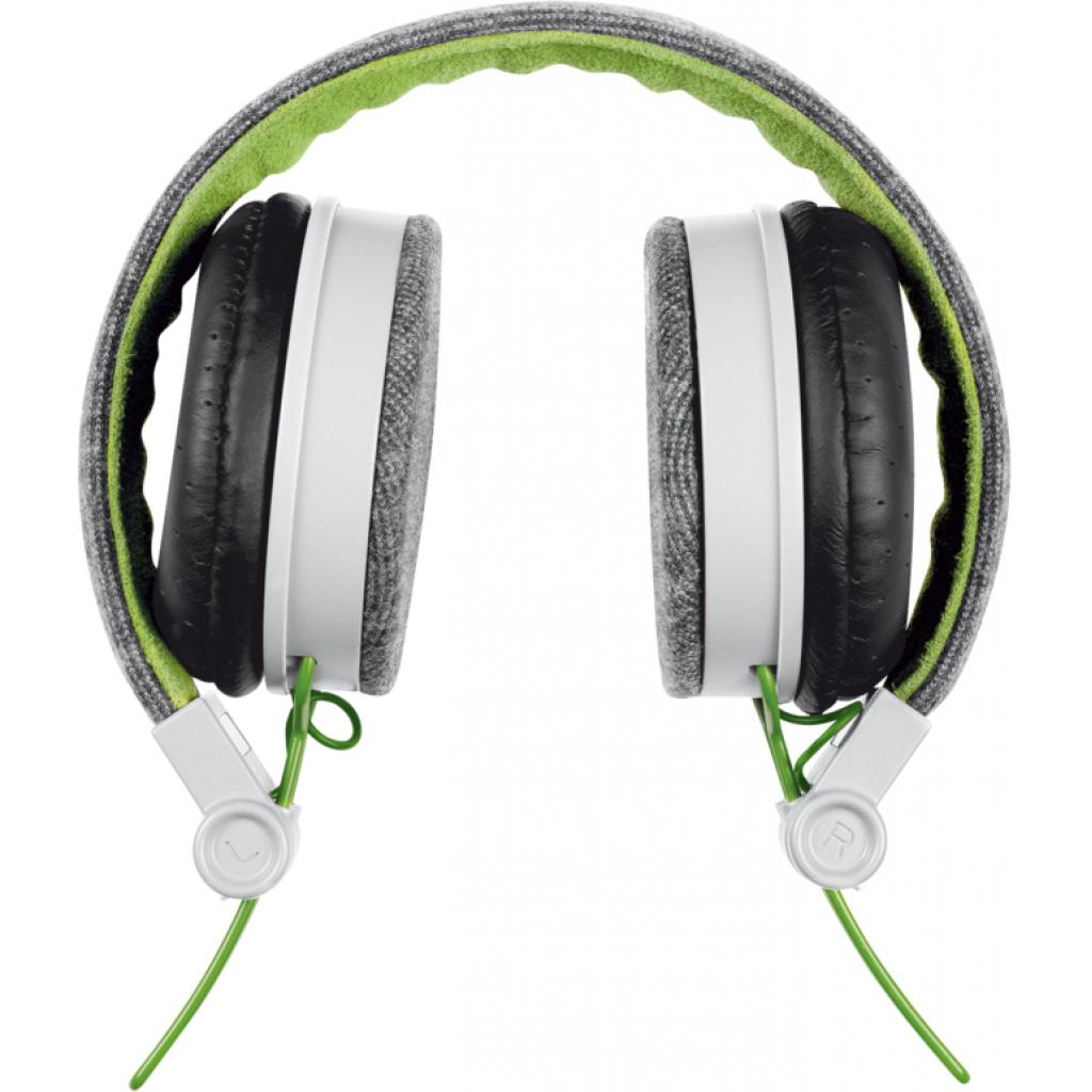Наушники Trust Urban Revolt Fyber headphone grey/green (20080) изображение 4