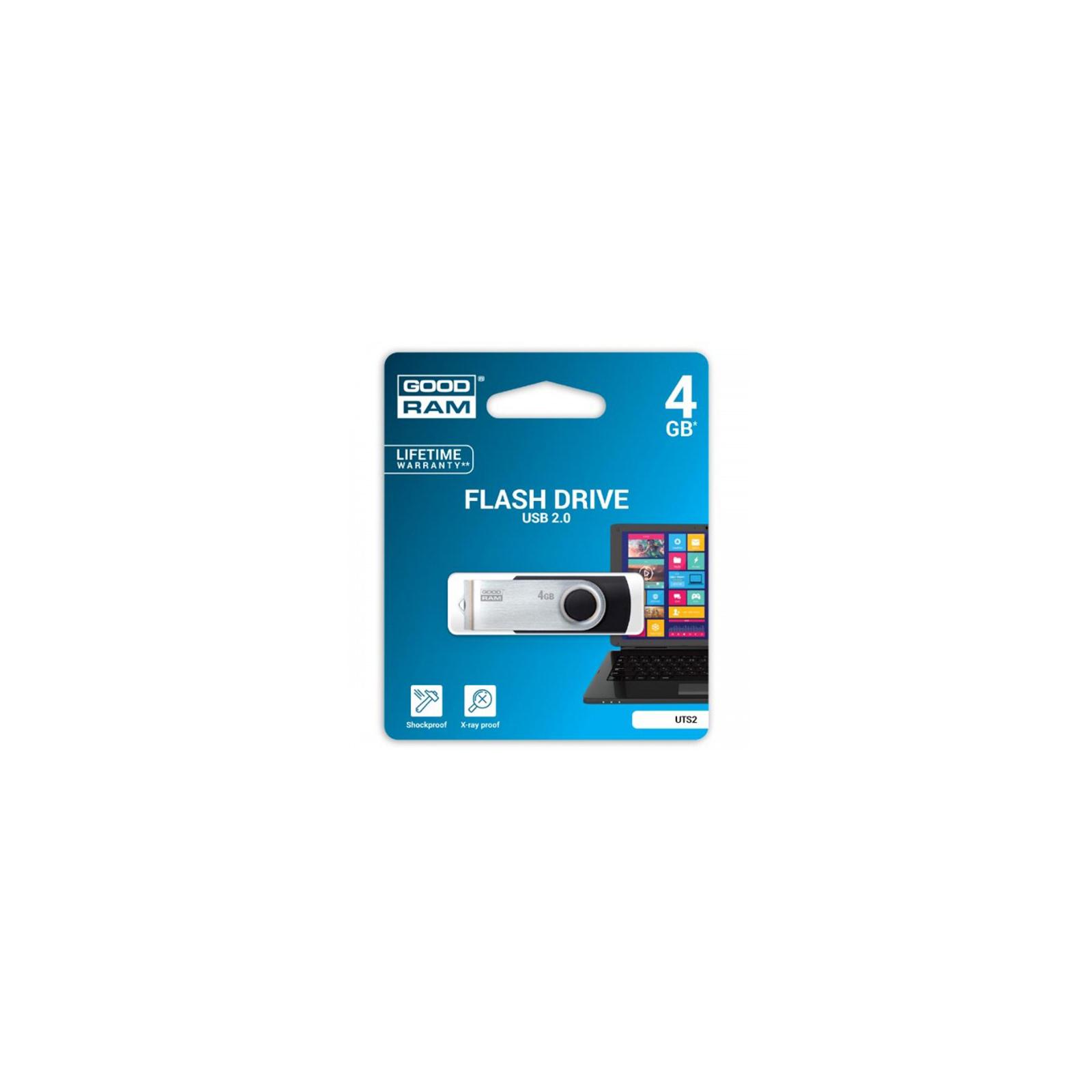 USB флеш накопитель GOODRAM 4GB Twister Black USB 2.0 (UTS2-0040K0R11) изображение 3