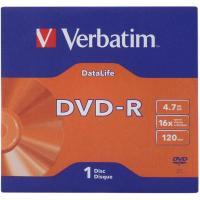 Диск DVD Verbatim 4.7Gb 16X Jacket 1 pcs DATA LIFE (43844-поштучно)