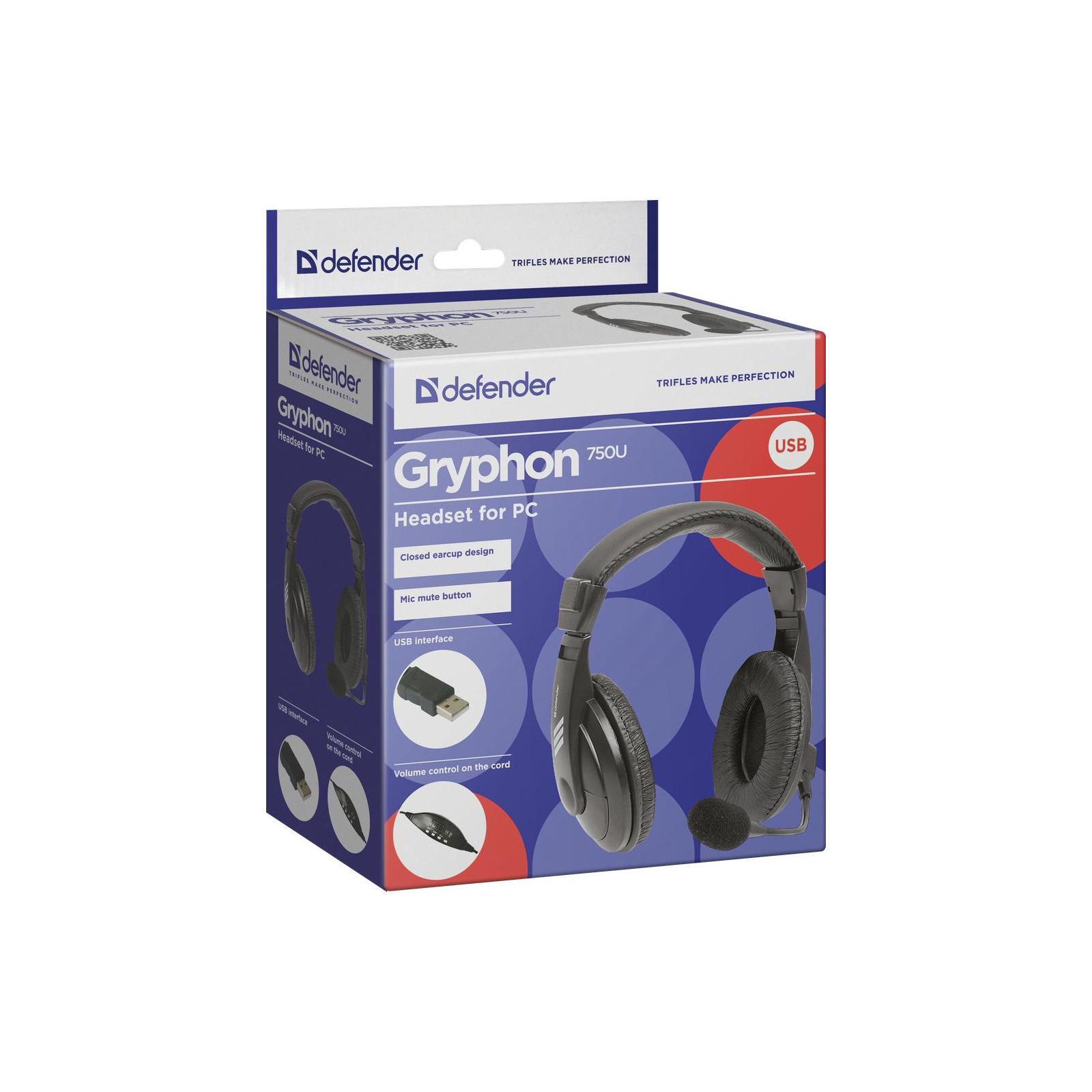 Наушники Defender Gryphon 750U USB (63752) изображение 5