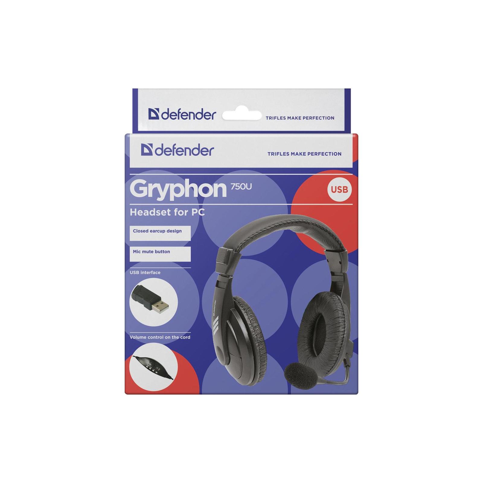 Наушники Defender Gryphon 750U USB (63752) изображение 6