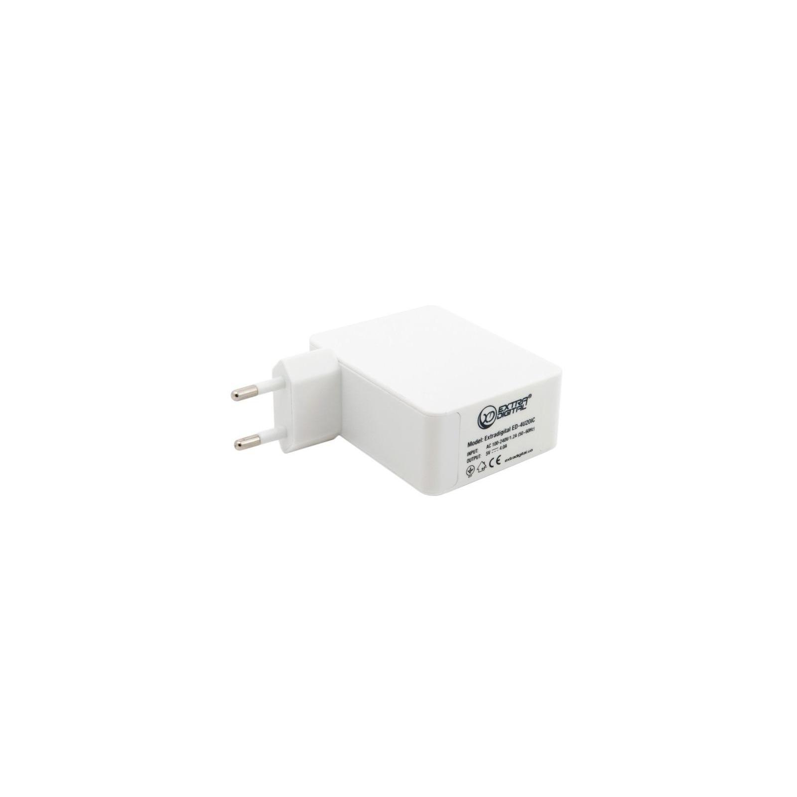 Зарядное устройство Extradigital IQ Charger ED-4U20IC 4*USB, 4A (CUE1527) изображение 3