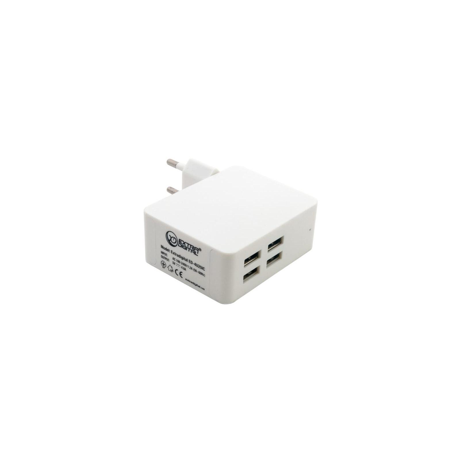 Зарядное устройство Extradigital IQ Charger ED-4U20IC 4*USB, 4A (CUE1527) изображение 7