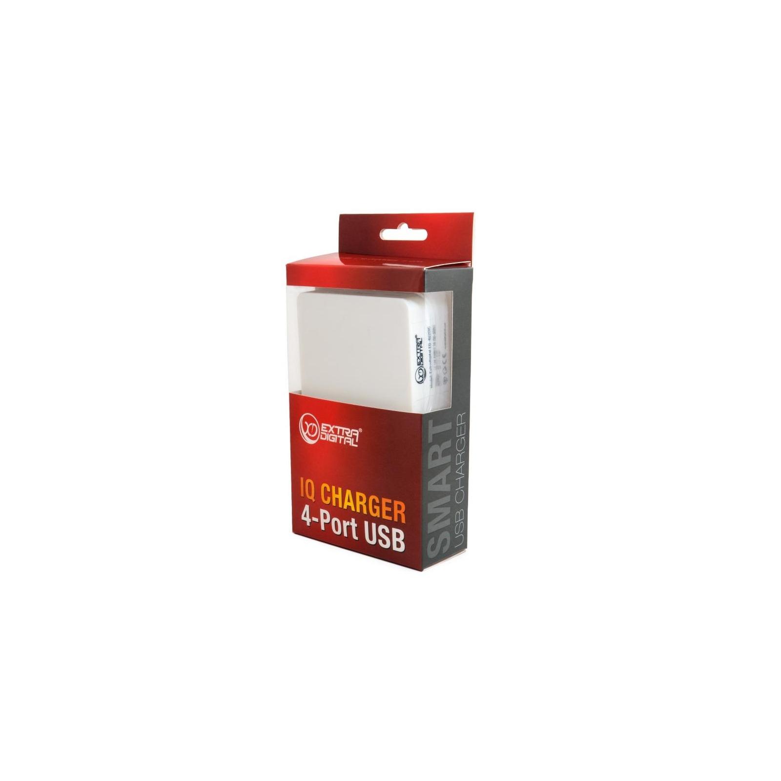 Зарядное устройство Extradigital IQ Charger ED-4U20IC 4*USB, 4A (CUE1527) изображение 8