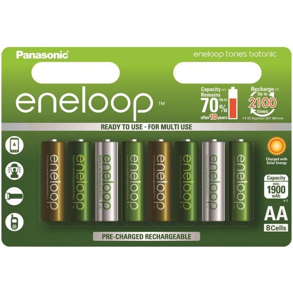 Аккумулятор PANASONIC Eneloop Tones Botanic 1900mAh NI-MH * 8 (BK-3MCCE/8TE)