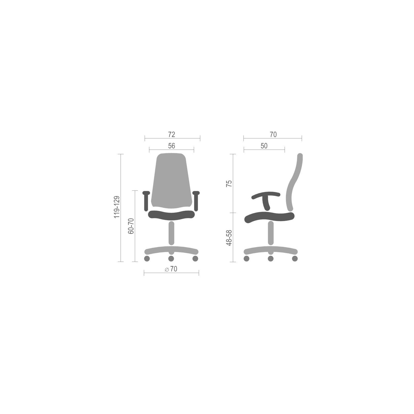 Кресло игровое АКЛАС Стрик PL RL Желтое (06149) изображение 6