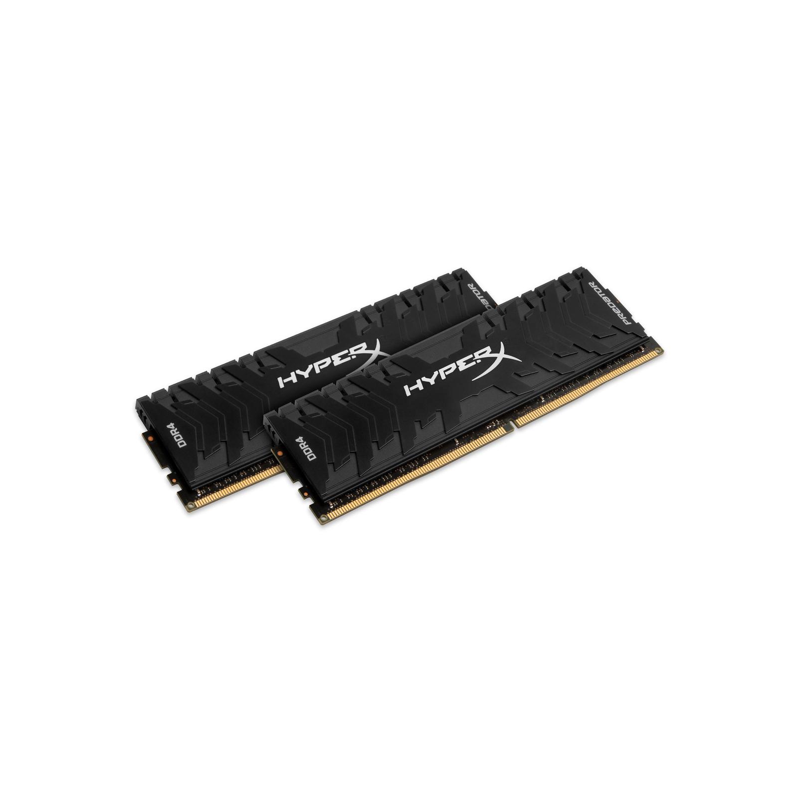 Модуль памяти для компьютера DDR4 16GB (2x8GB) 3600 MHz HyperX Predator Black Kingston (HX436C17PB4K2/16) изображение 2