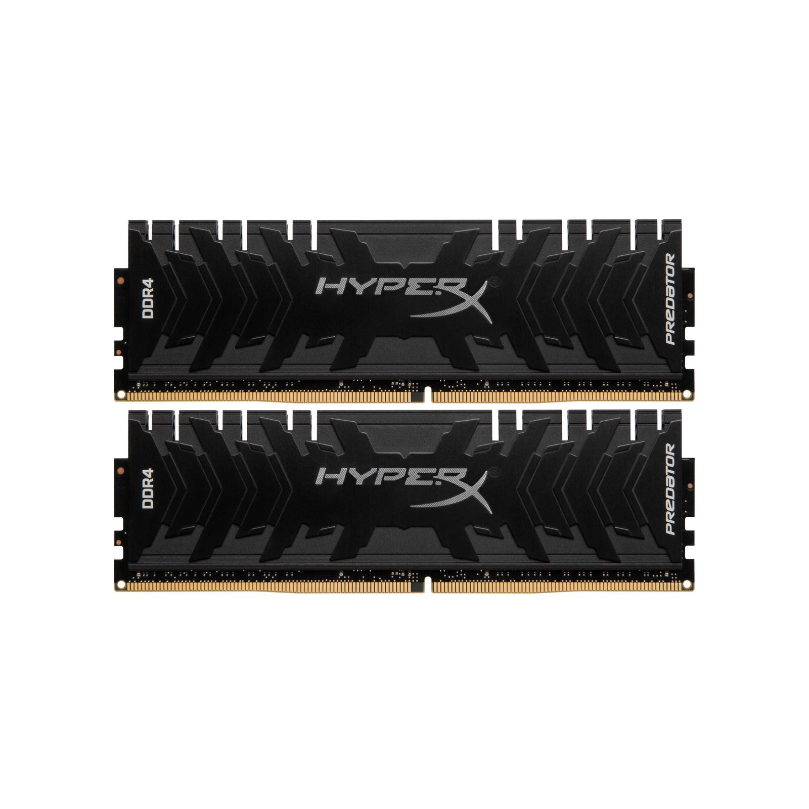 Модуль памяти для компьютера DDR4 16GB (2x8GB) 3600 MHz HyperX Predator Black Kingston (HX436C17PB4K2/16)