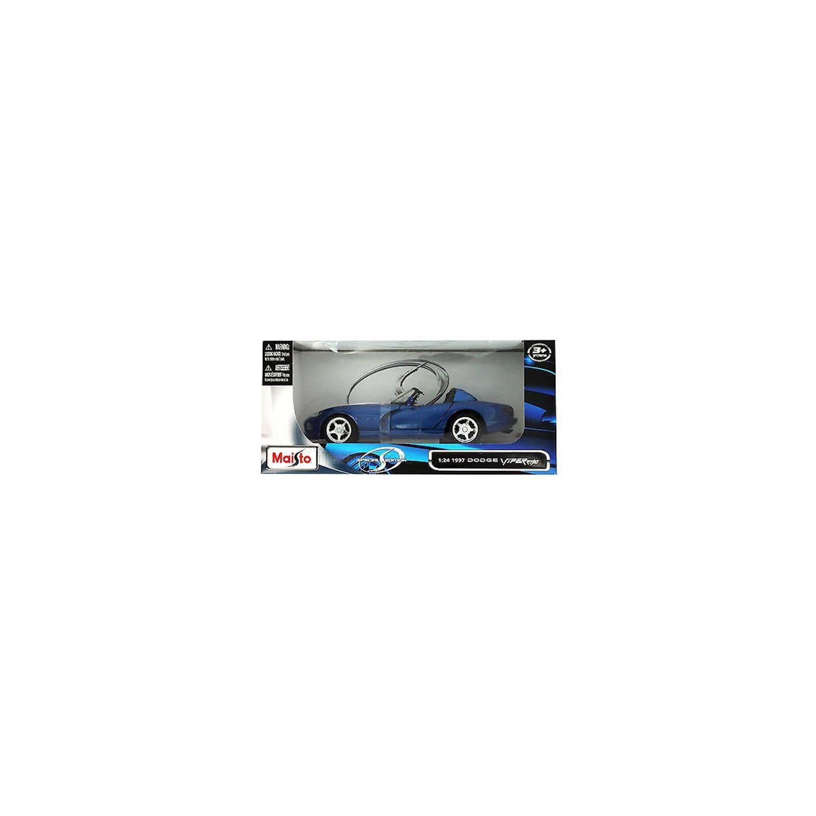 Машина Maisto Dodge Viper RT/10 '97 (1:24) синий (31932 blue) изображение 4