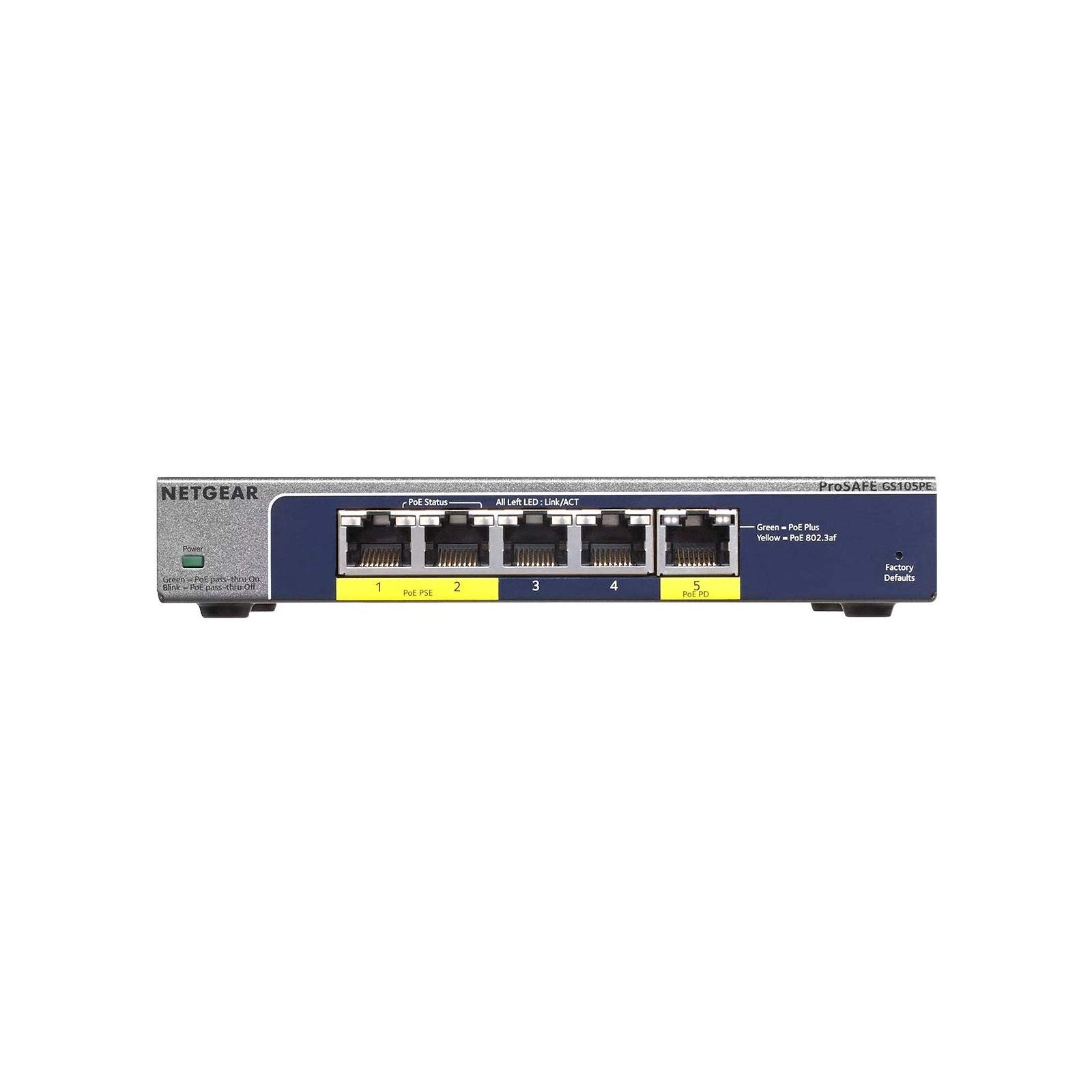 Коммутатор сетевой Netgear GS105PE-10000S изображение 2