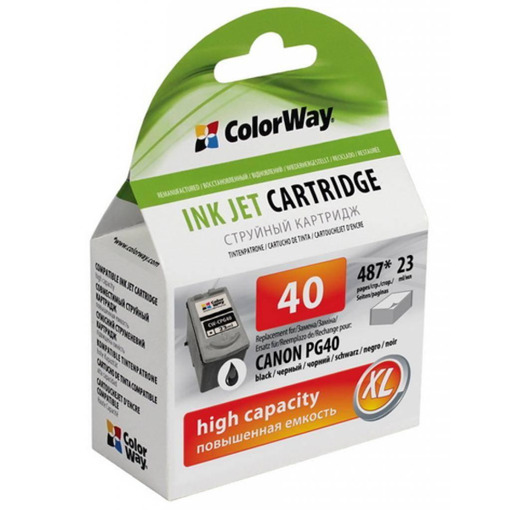 Картридж ColorWay CANON PG-40 black (CW-CPG40)