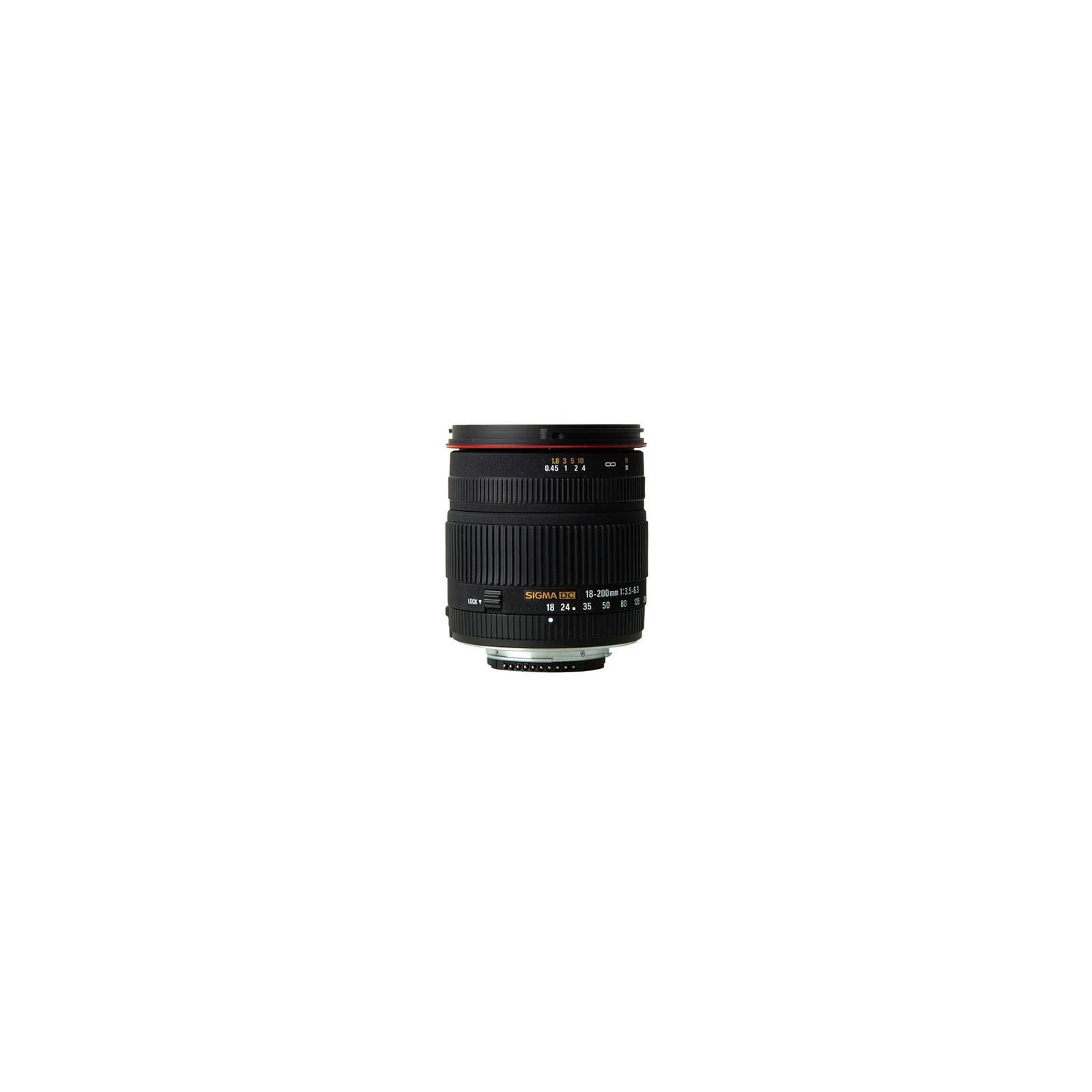 Объектив 18-200mm f/3.5-6.3 DC for Nikon Sigma (77D955)
