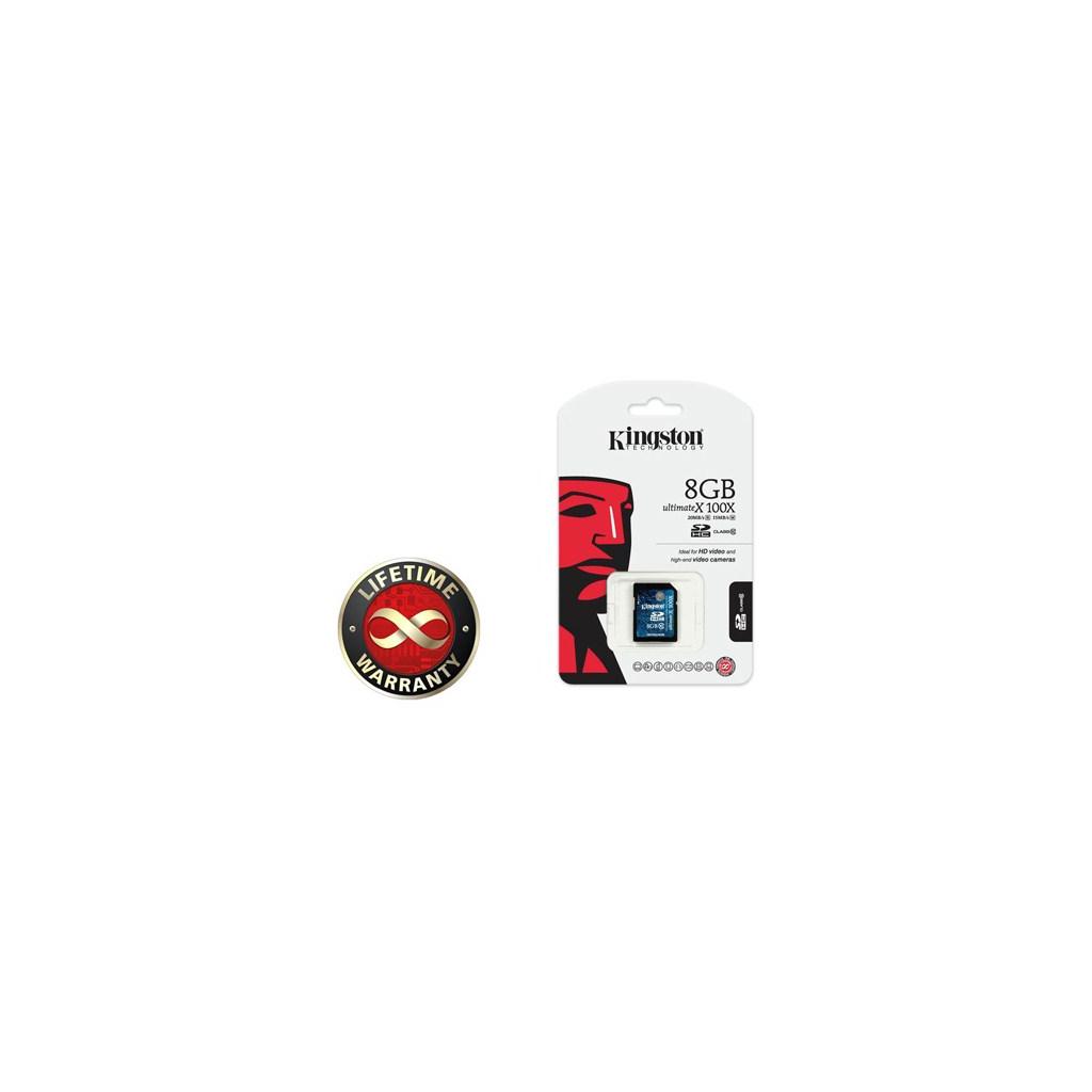 Карта памяти 8Gb SDHC class 10 Generation 2 (100 Kingston (SD10G2/8GB) изображение 2